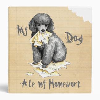 My Miniature Poodle Ate My Homework 3 Ring Binder