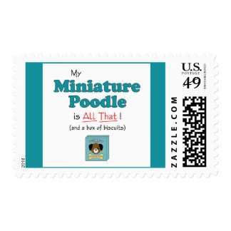 My Miniature Poodle is All That! Postage Stamp