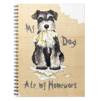 My Miniature Schnauzer Ate My Homework Spiral Notebook