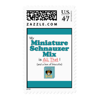 My Miniature Schnauzer Mix is All That! Postage