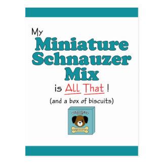 My Miniature Schnauzer Mix is All That! Postcard