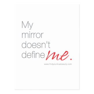 My Mirror Doesn't Define Me Postcard