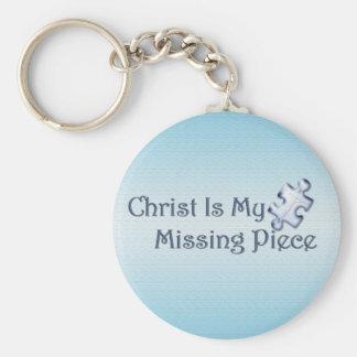 My Missing Piece Religious Keychain