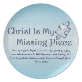 My Missing Piece Religious Plate