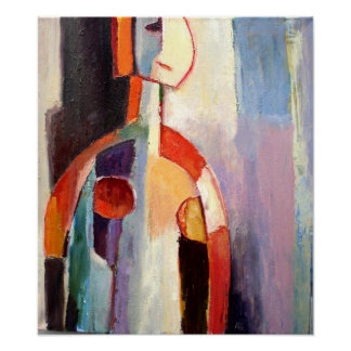 My Modern Abstract Figure Painting Poster