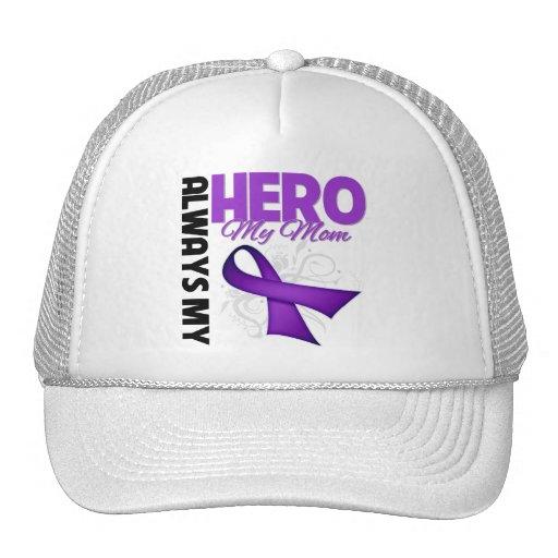 My Mom Always My Hero - Purple Ribbon Trucker Hat