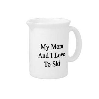 My Mom And I Love To Ski Drink Pitchers