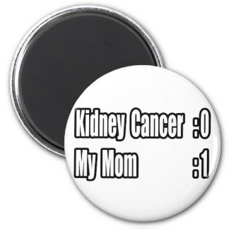 My Mom Beat Kidney Cancer (Scoreboard) 2 Inch Round Magnet