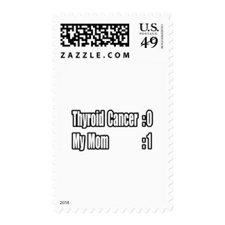 My Mom Beat Thyroid Cancer (Scoreboard) Postage Stamps