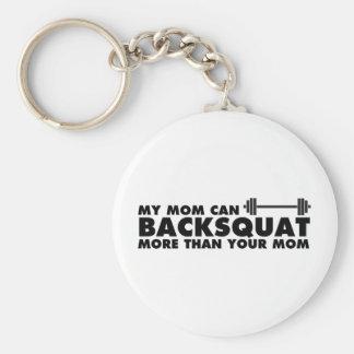 My Mom Can Backsquat! Keychain