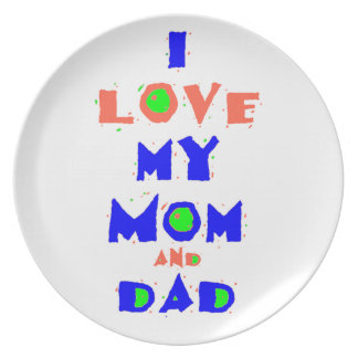 My Mom & Dad Plate