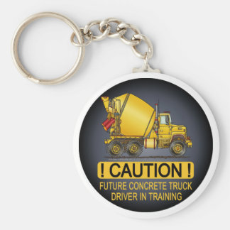 My Mom Drives A Concrete Truck Infant Creeper Keychain