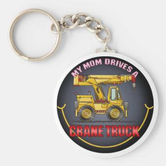 My Mom Drives A Crane Truck Key Chain