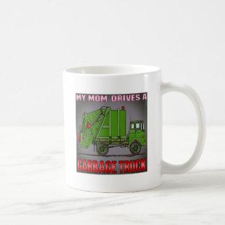 My Mom Drives A Garbage Truck Green Coffee Mug