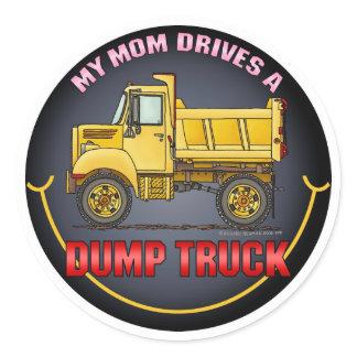 My Mom Drives A Little Dump Truck Kids Sticker