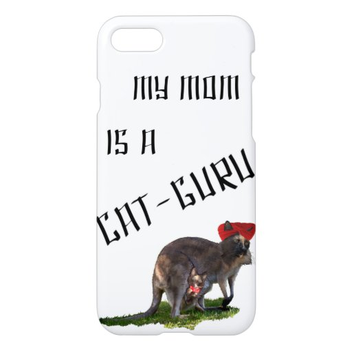 My mom is a cat-guru iPhone 8/7 case