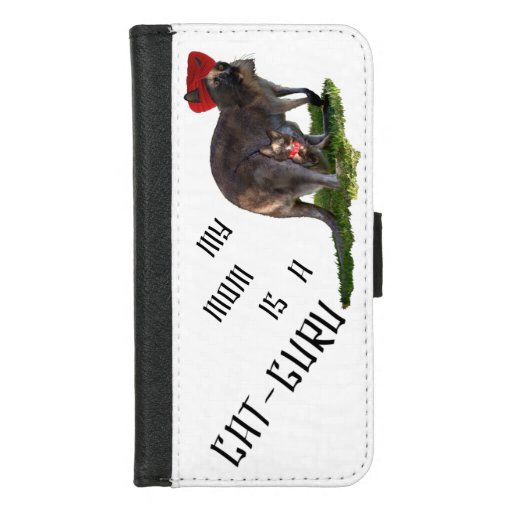 My mom is a cat-guru iPhone 8/7 wallet case