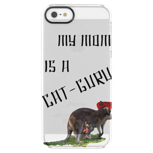 My mom is a cat-guru clear iPhone SE/5/5s case