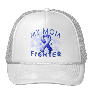 My Mom Is A Fighter Blue Trucker Hat