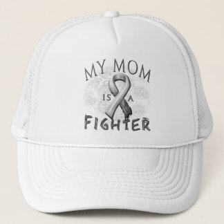 My Mom Is A Fighter Grey Trucker Hat