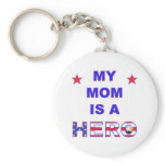My Mom Is A Hero Basic Round Button Keychain
