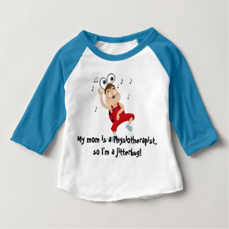 My mom is a physiotherapist jitterbug long sleeve infant t-shirt