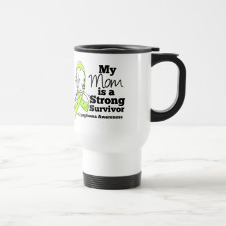 My Mom is a Strong Survivor of Lymphoma 15 Oz Stainless Steel Travel Mug