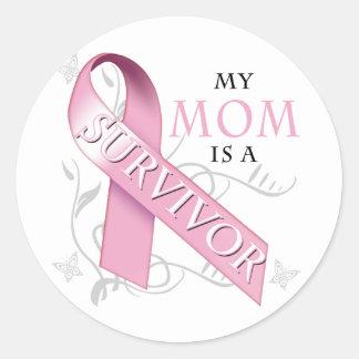 My Mom is a Survivor png Round Sticker