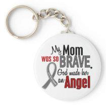 My Mom Is An Angel 1 Brain Cancer Keychain