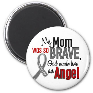 My Mom Is An Angel 1 Brain Cancer 2 Inch Round Magnet
