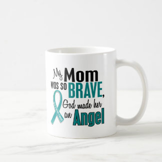My Mom Is An Angel 1 Ovarian Cancer Coffee Mug