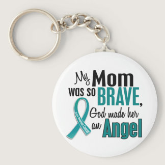 My Mom Is An Angel 1 Ovarian Cancer Keychain