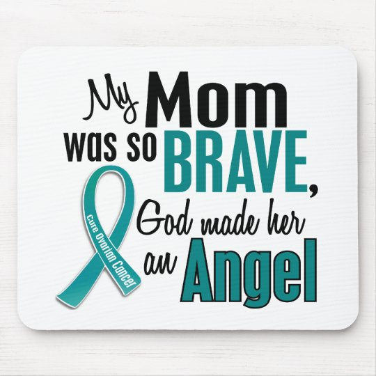 My Mom Is An Angel 1 Ovarian Cancer Mouse Pad
