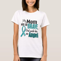 My Mom Is An Angel 1 Ovarian Cancer T-Shirt