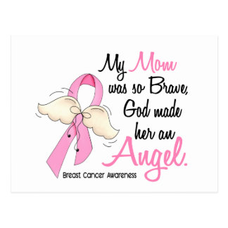 My Mom Is An Angel 2 Breast Cancer Postcard