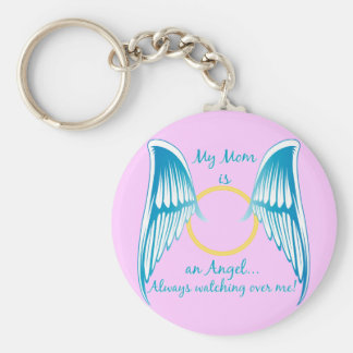 My Mom is an Angel Basic Round Button Keychain