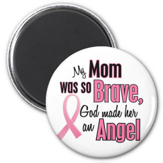 My Mom Is An Angel Breast Cancer 2 Inch Round Magnet