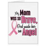 My Mom Is An Angel Breast Cancer Greeting Card