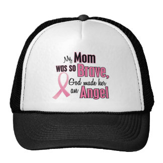 My Mom Is An Angel Breast Cancer Trucker Hat