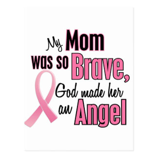 My Mom Is An Angel Breast Cancer Postcard