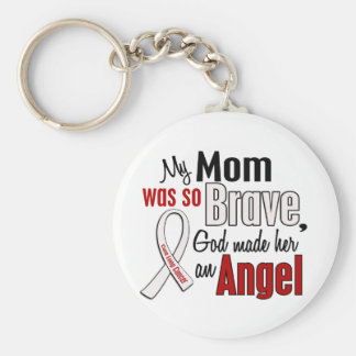 My Mom Is An Angel Lung Cancer Basic Round Button Keychain