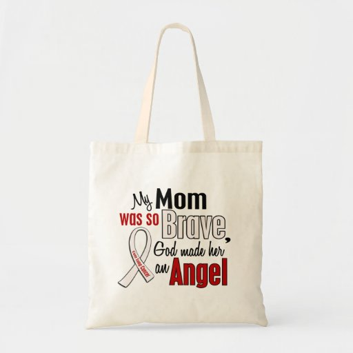 My Mom Is An Angel Lung Cancer Budget Tote Bag