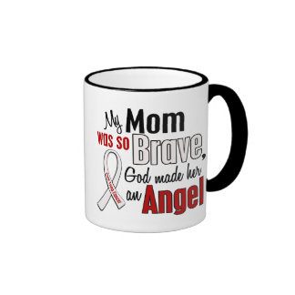 My Mom Is An Angel Lung Cancer Ringer Mug
