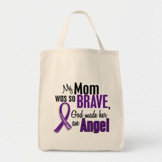 My Mom Is An Angel Pancreatic Cancer Grocery Tote Bag