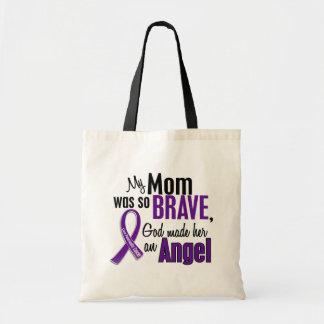 My Mom Is An Angel Pancreatic Cancer Budget Tote Bag