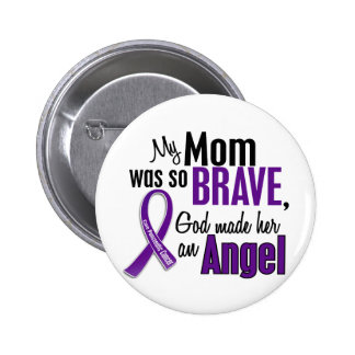 My Mom Is An Angel Pancreatic Cancer Pinback Button