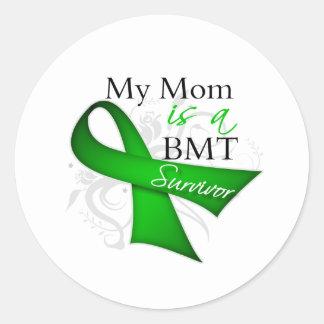 My Mom is Bone Marrow Transplant Survivor Round Sticker