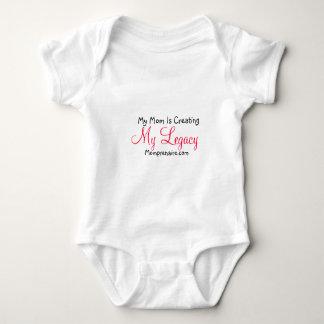 My Mom Is Creating  My Legacy Baby Bodysuit