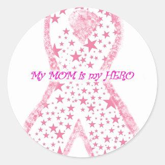 My Mom is my Hero Classic Round Sticker