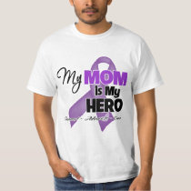 My Mom is My Hero - Purple Ribbon T-Shirt